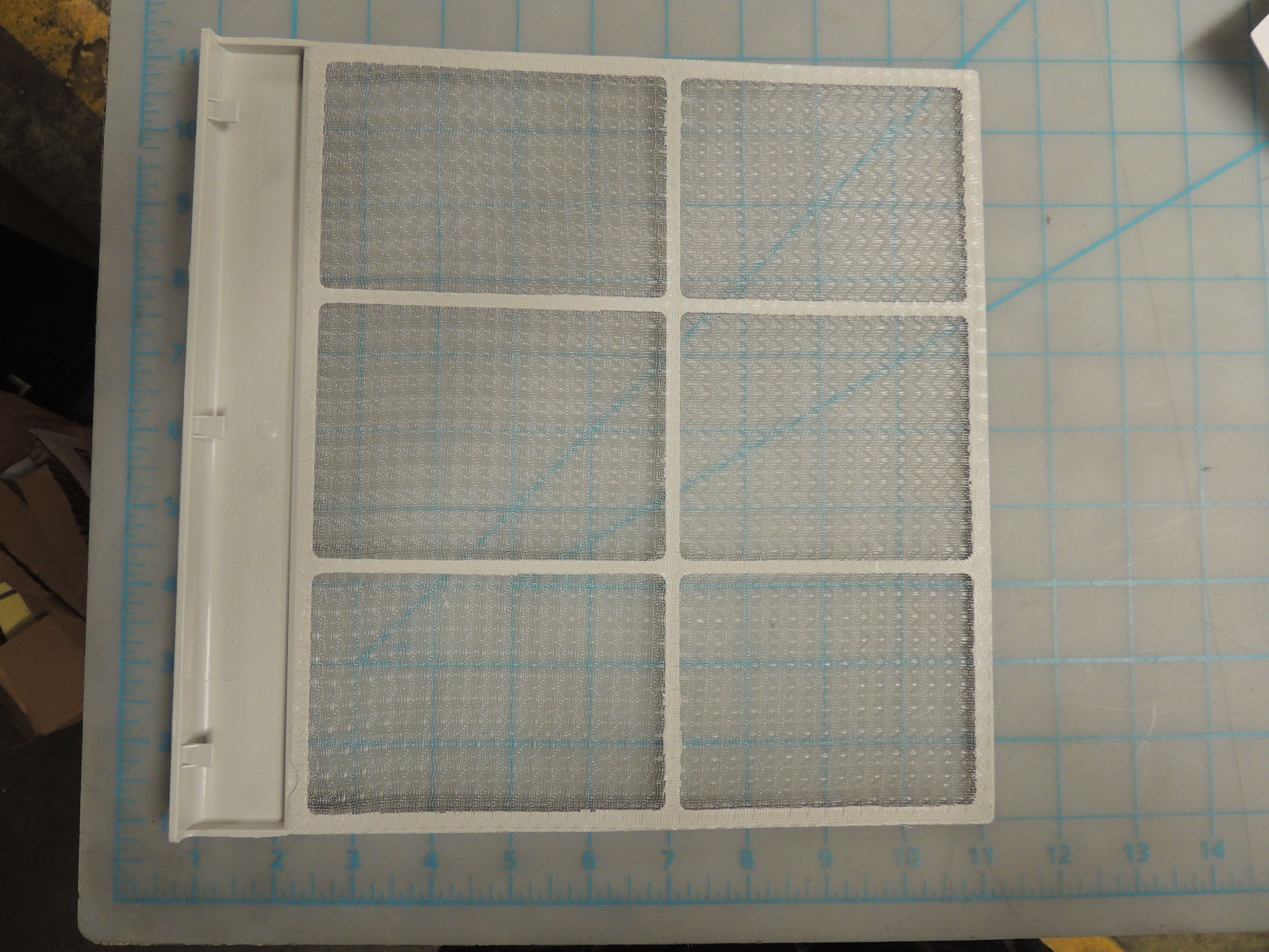Outdoor air inlet grille