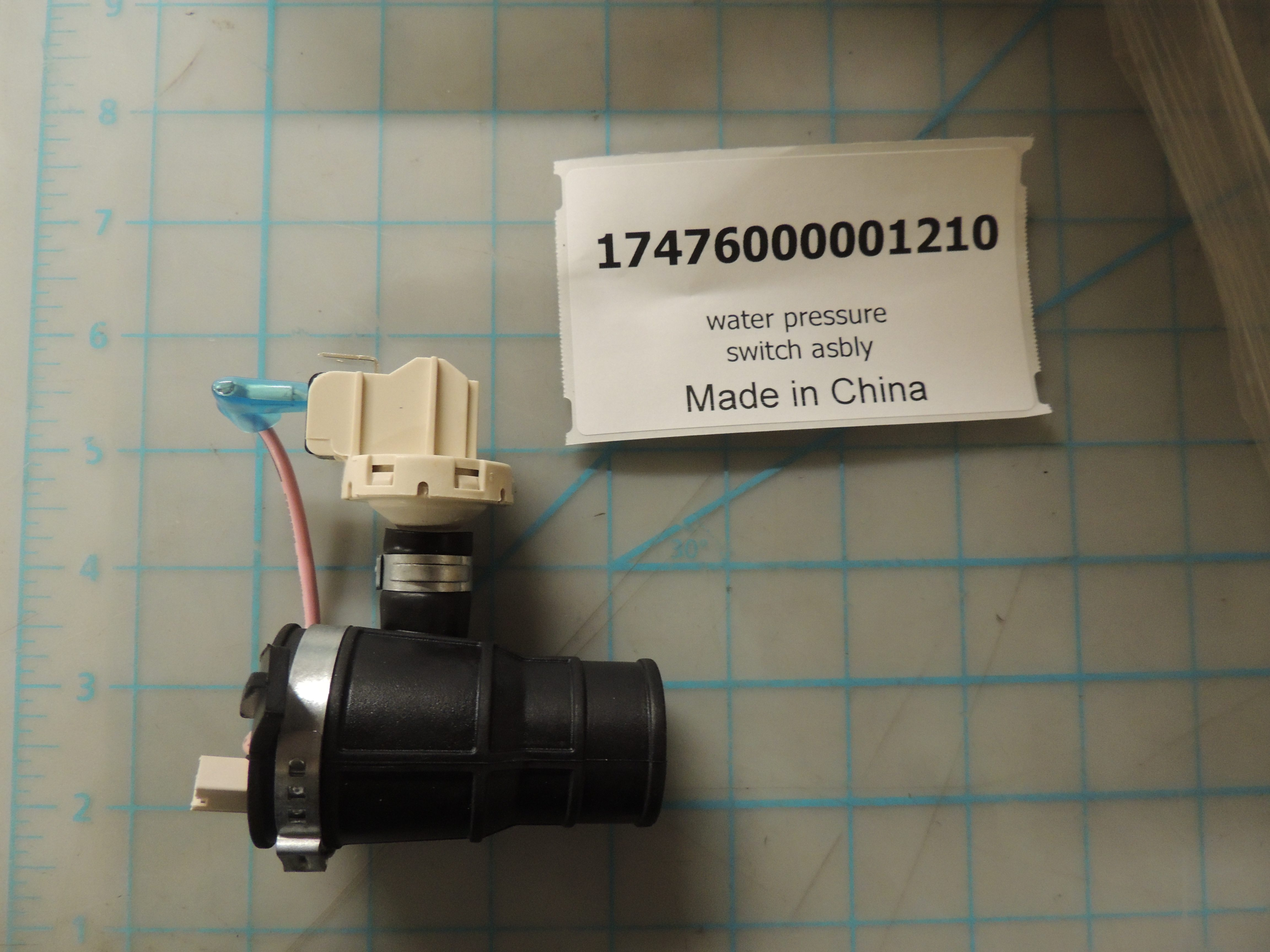 water pressure switch asbly
