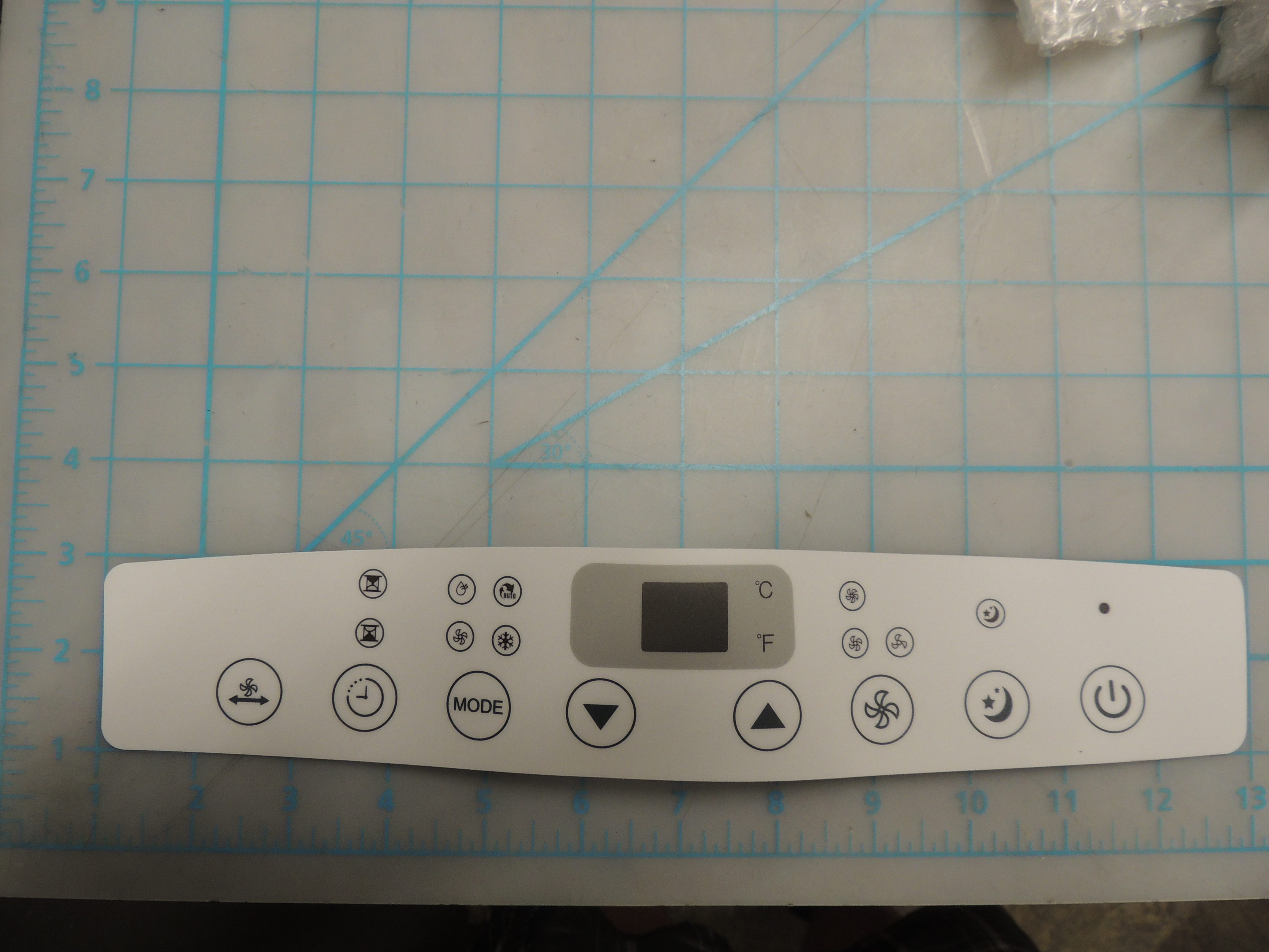 Control panel lebel