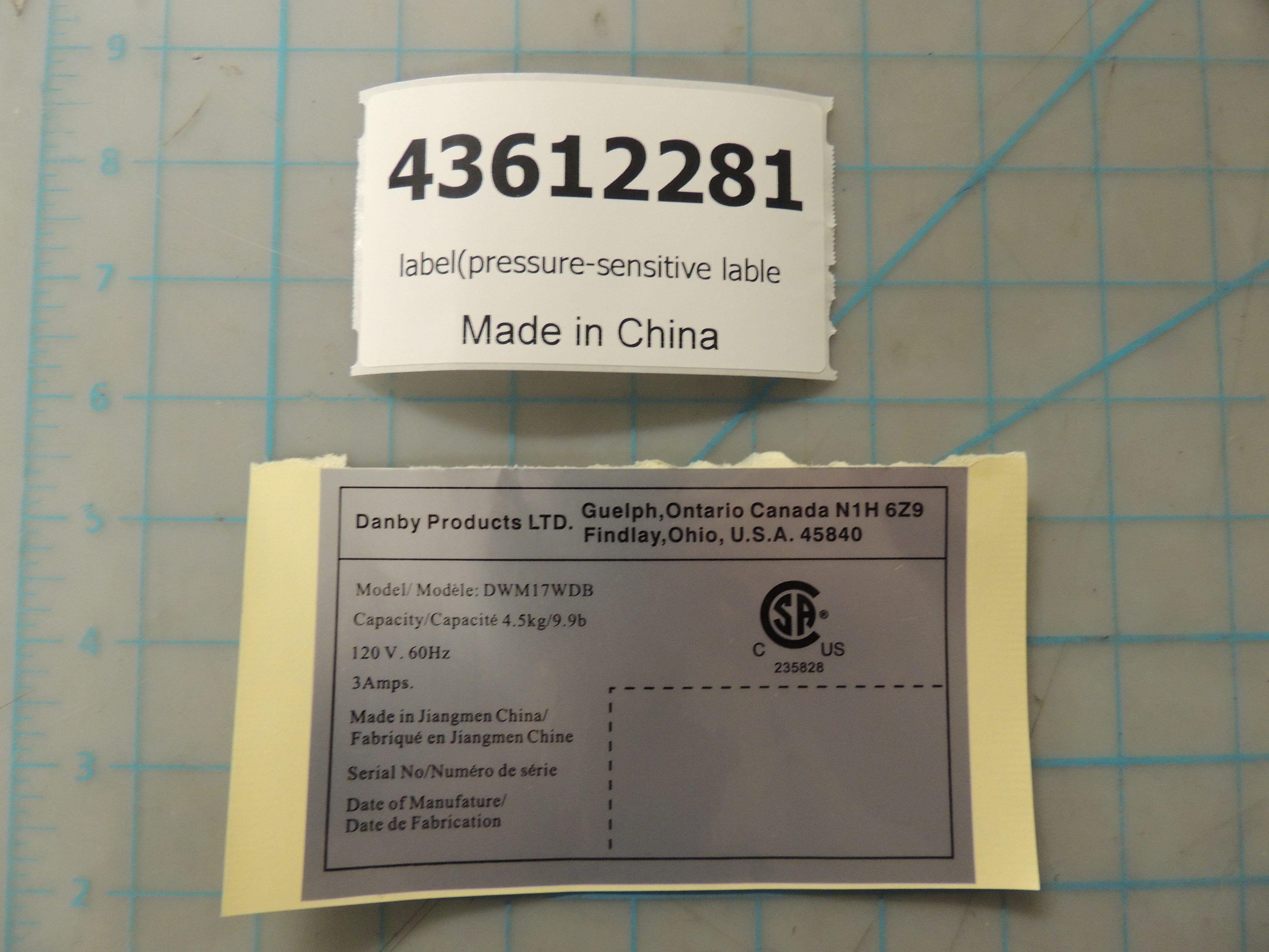 label(pressure-sensitive lable
