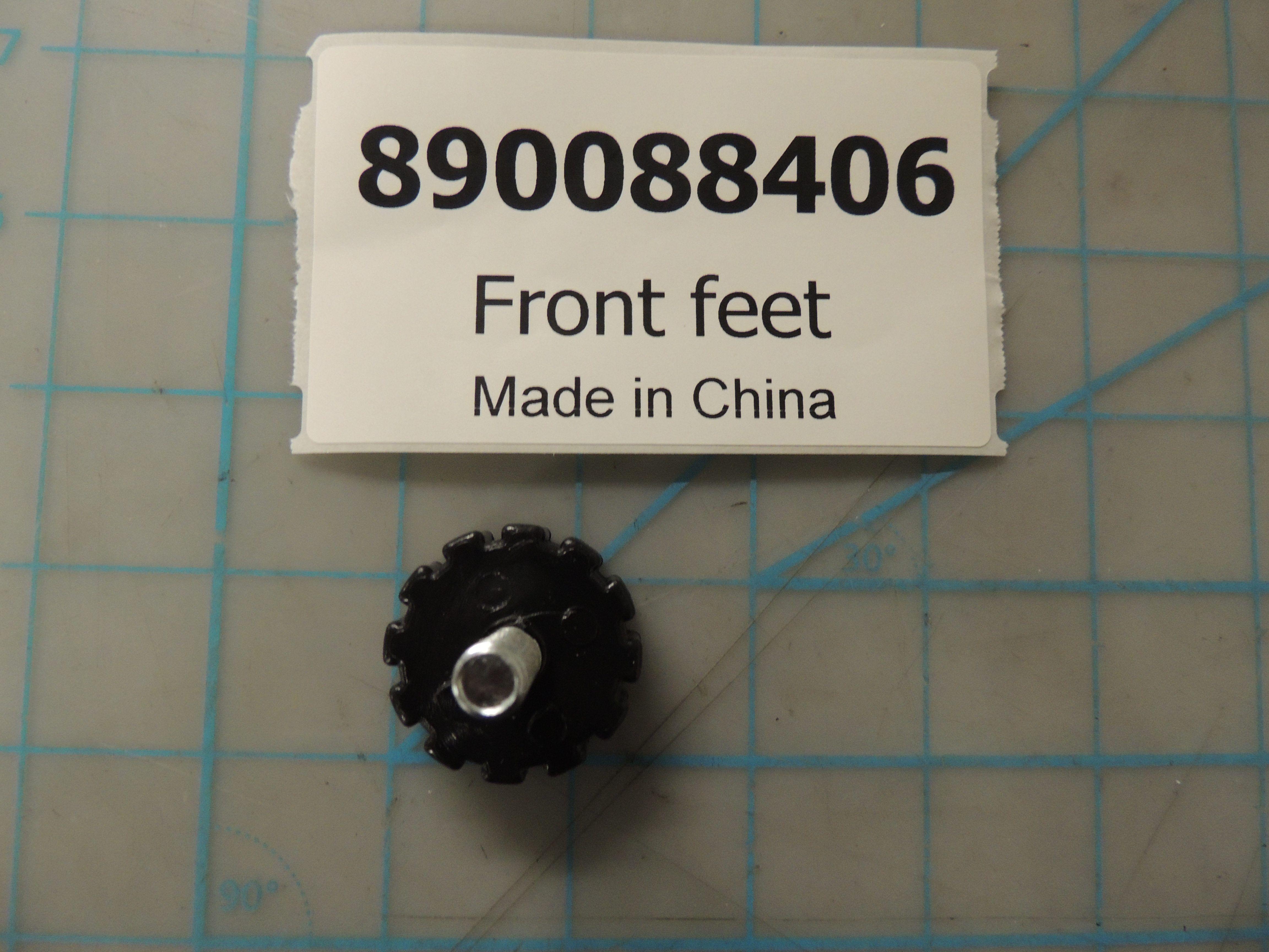 Front feet