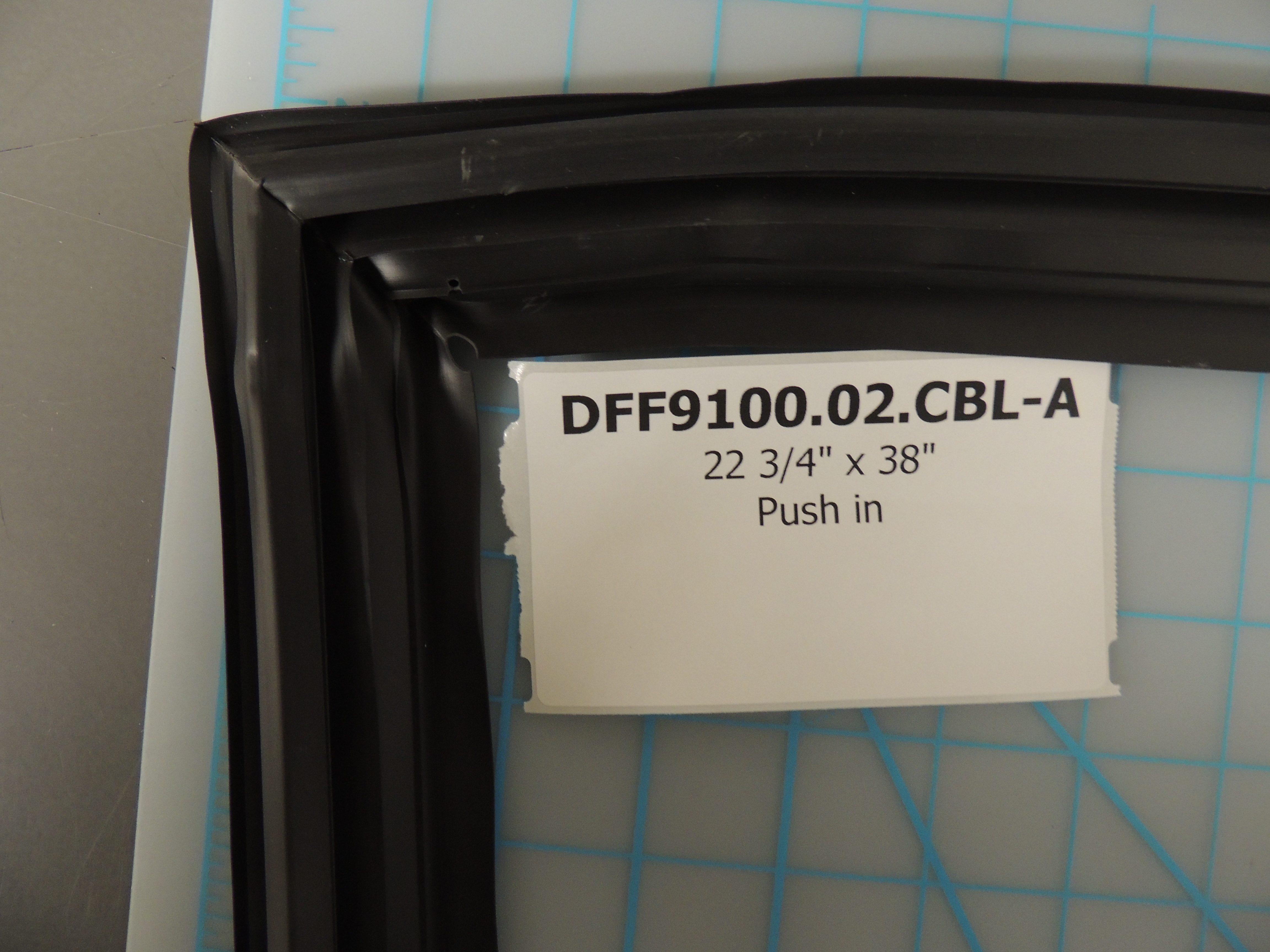 DFF9100BL REF DOOR GASKET PUSH