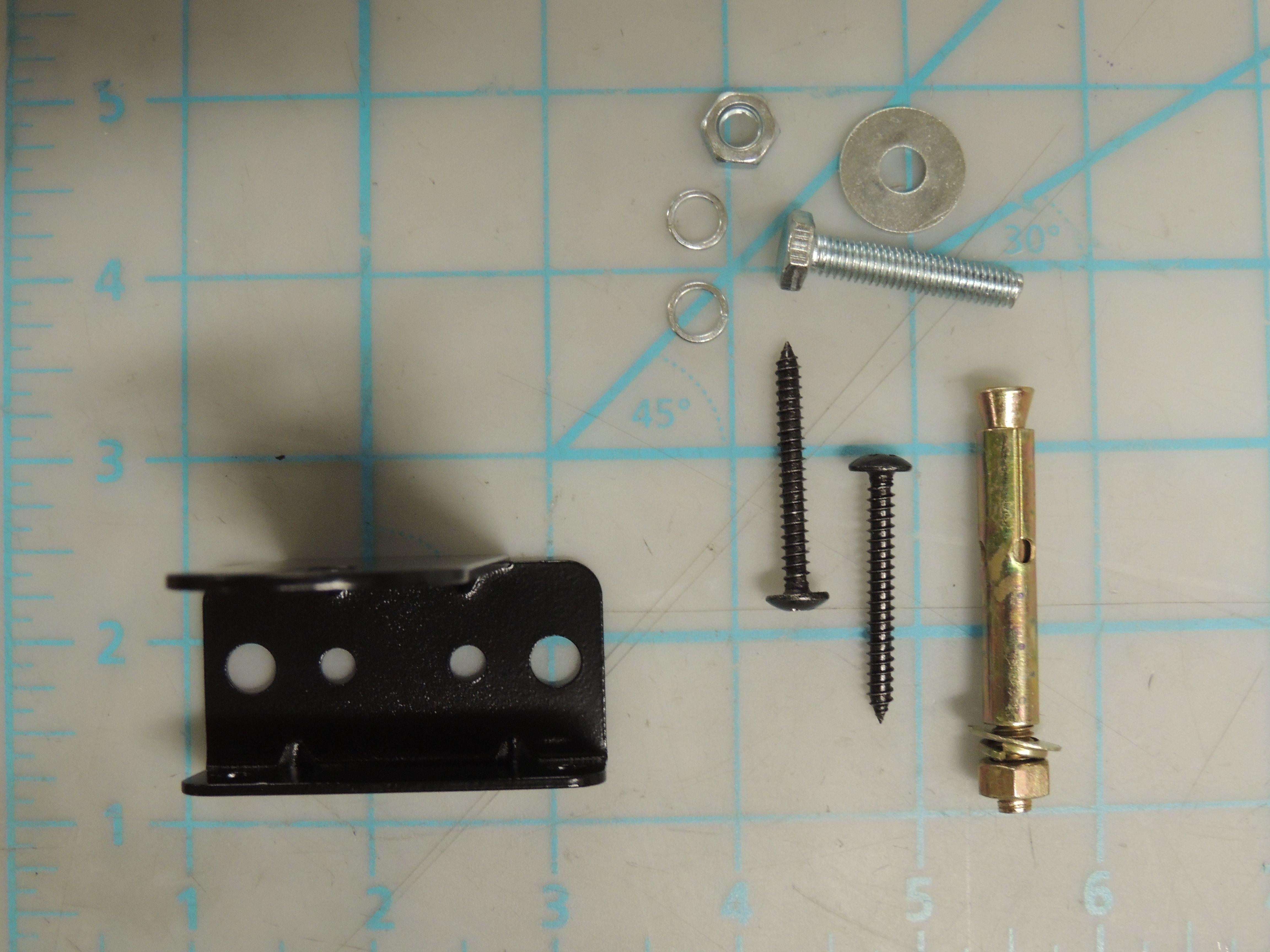 Anti-tip bracket with screws