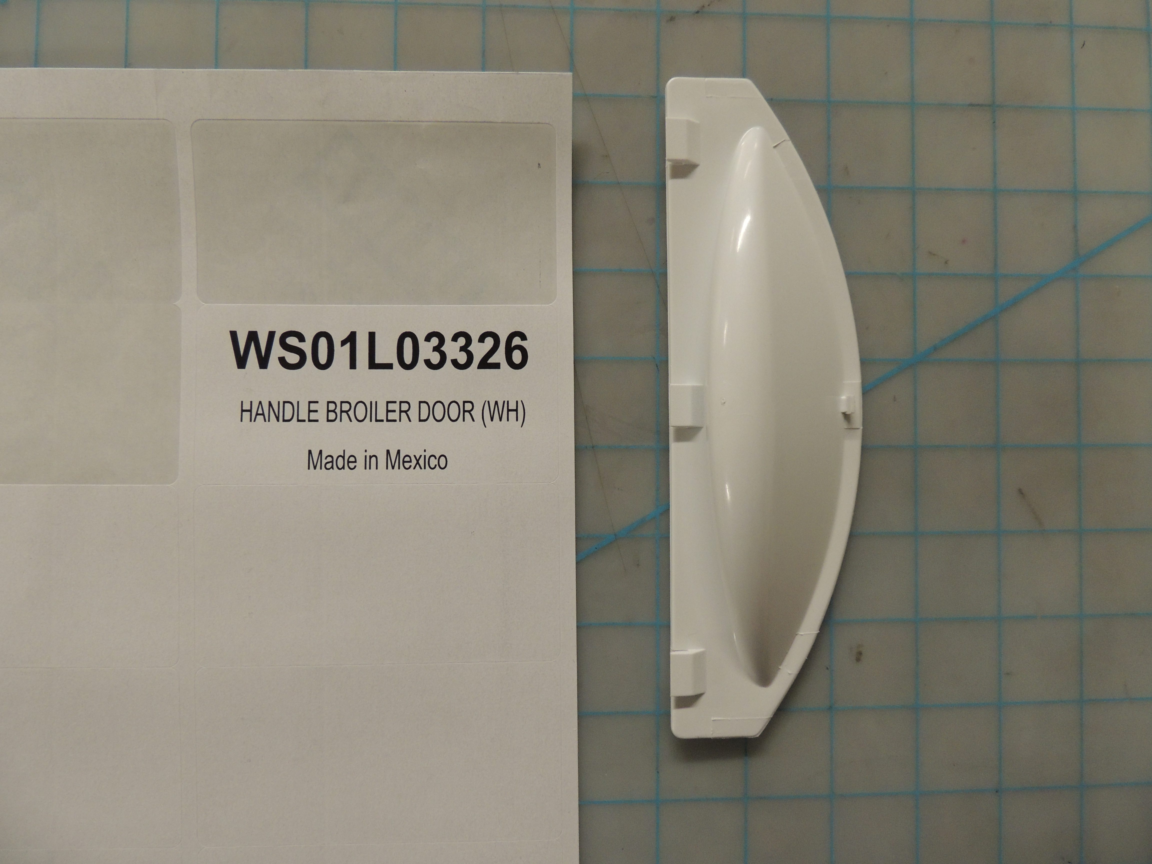 HANDLE BROILER DOOR (WH)