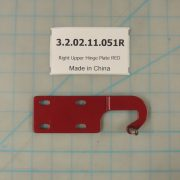 Right Upper Hinge Plate RED