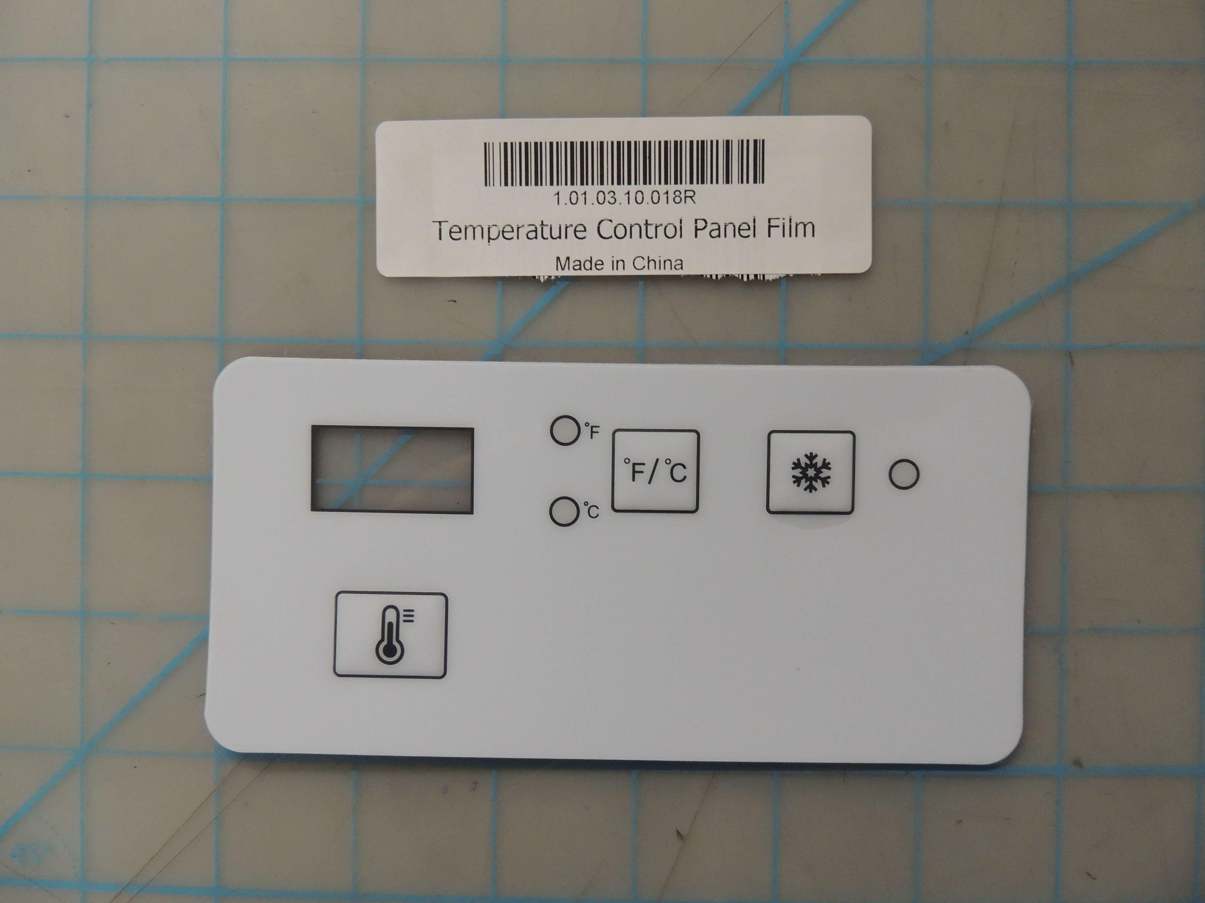 Temperature Control Panel Film