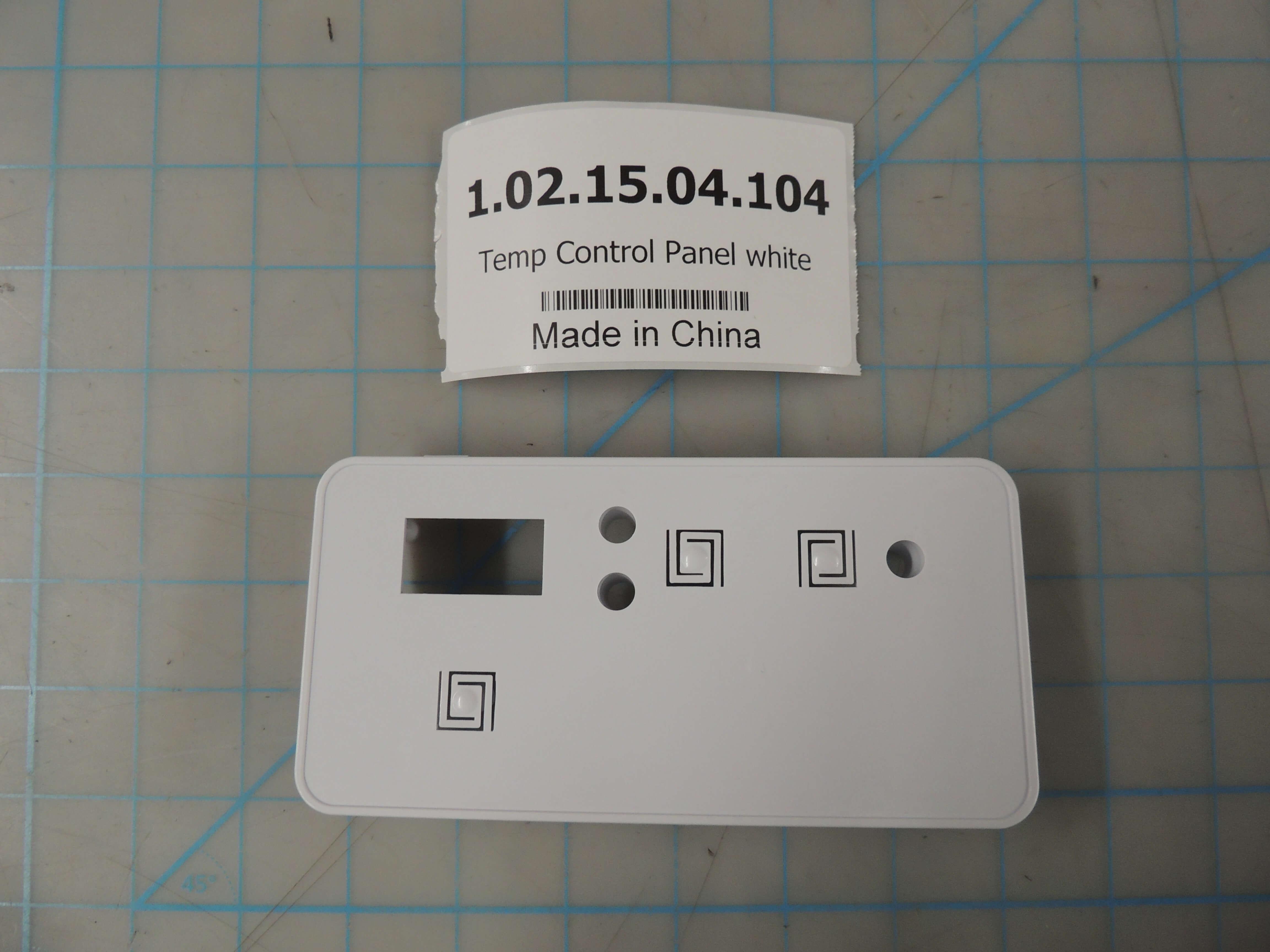 Temp Control Panel white