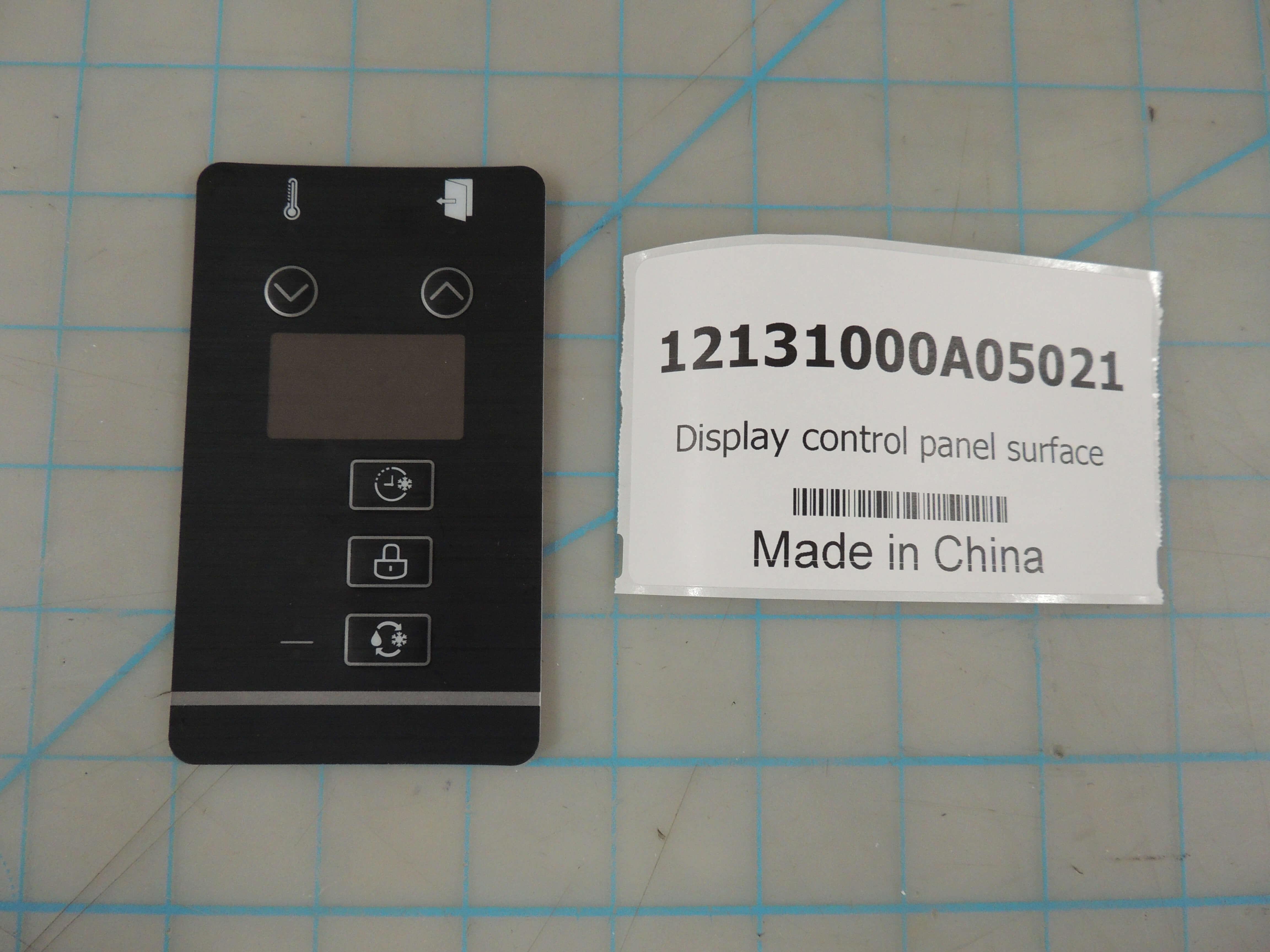 Display control panel surface